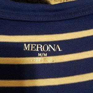 Merona Tops - Blue Striped Top